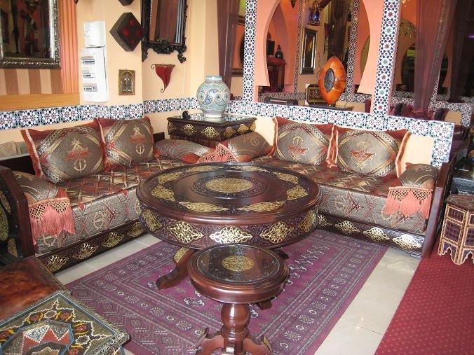 Salon marocain et d coration oriontale caftan au maroc for Salon oriental marocain